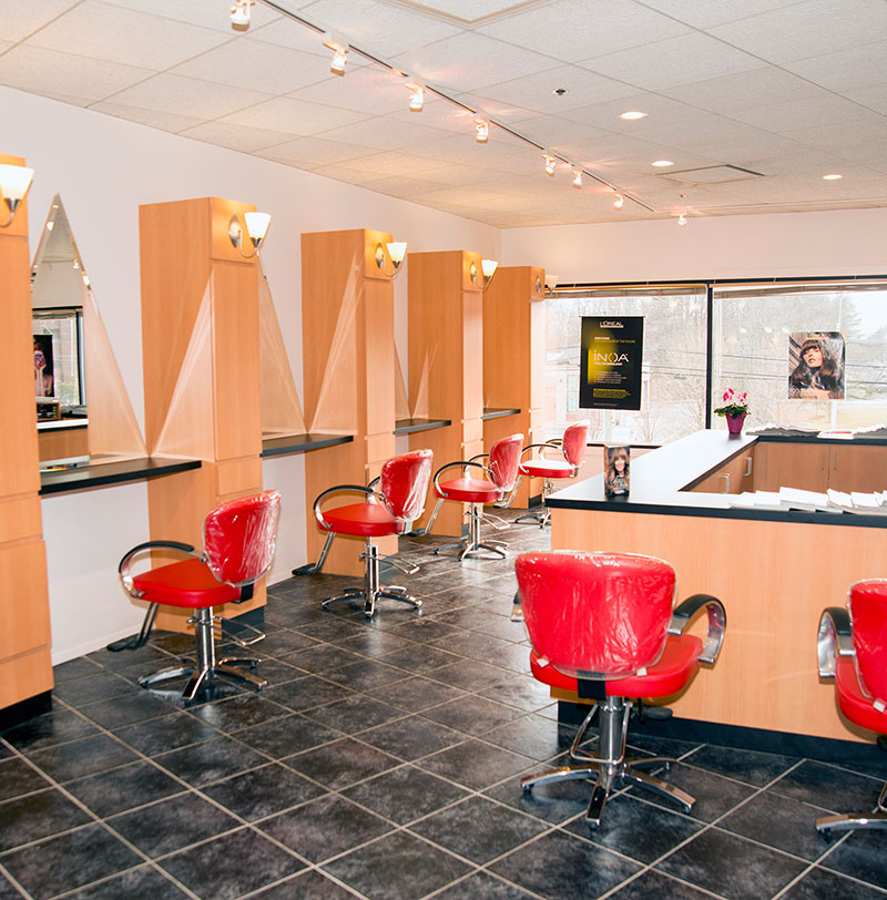Red Salon and Color Bar styling